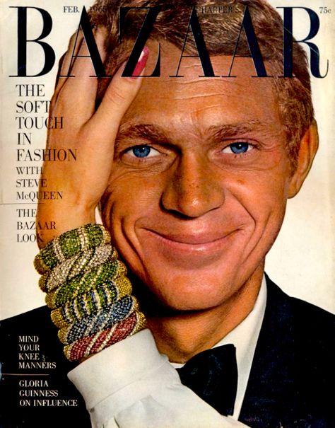 bazaar feb 1965 steve mcqueen