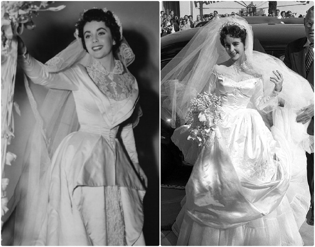 Two wedding dresses Liz