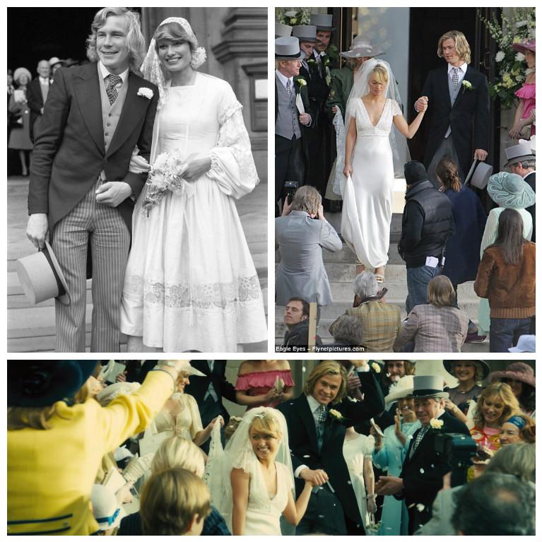Свадьба Джеймса Ханта и Сьюзи Миллер, кадры из фильма